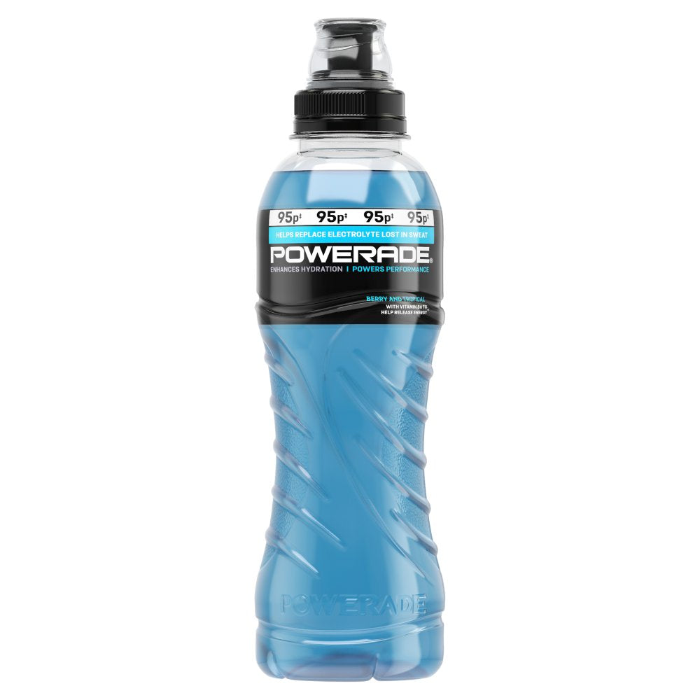 Powerade Ion 4 Berry & Tropical Flavour 12 x 500ml