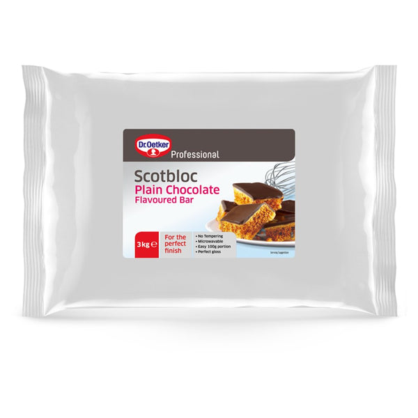 Dr. Oetker Professional Scotbloc Plain Chocolate Flavoured Bar 3kg