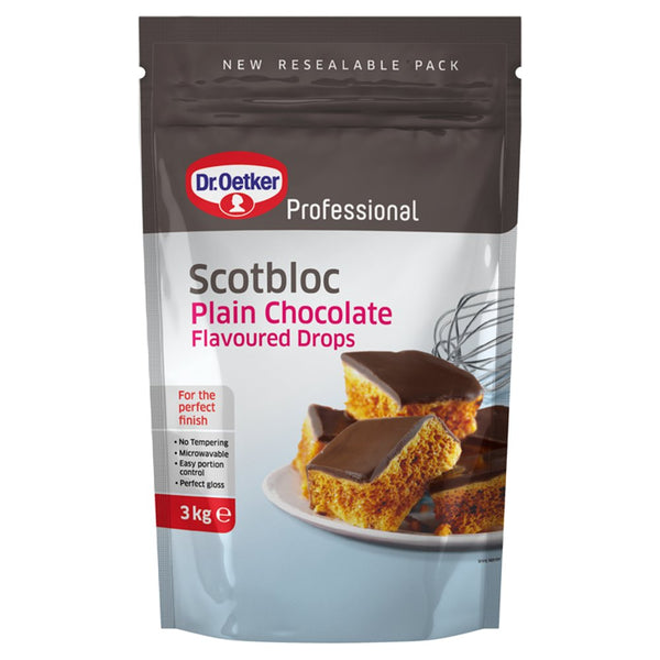 Dr. Oetker Professional Scotbloc Plain Chocolate Flavoured Drops 3kg