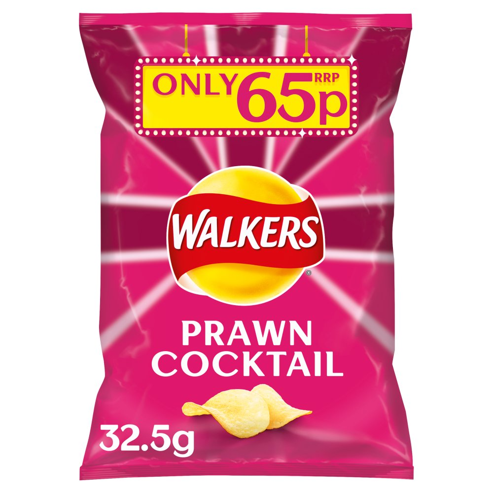 Walkers Crisps (32.5gx32) (Prawn Cocktail)