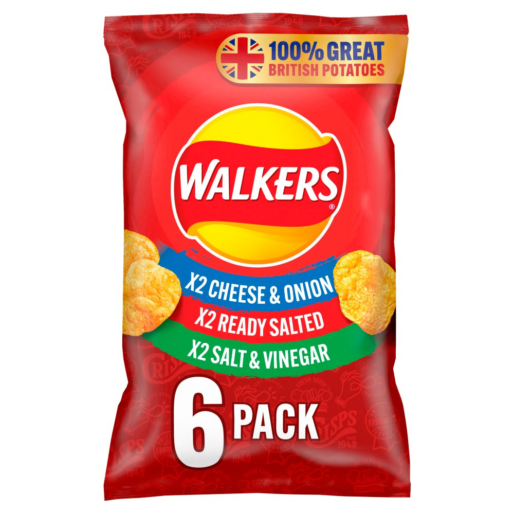 Walkers Classic Variety Multipack Crisps (6x25g)