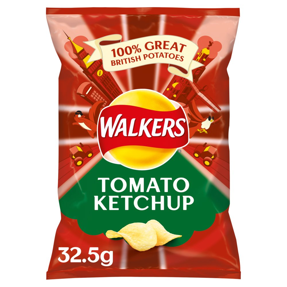 Walkers Crisps Tomato Ketchup x 32 1040g