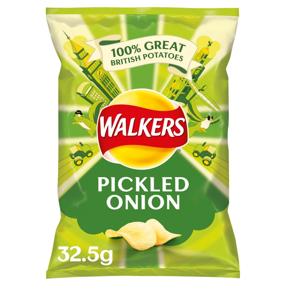 Walkers Crisps Pickled Onion x 32 1040g