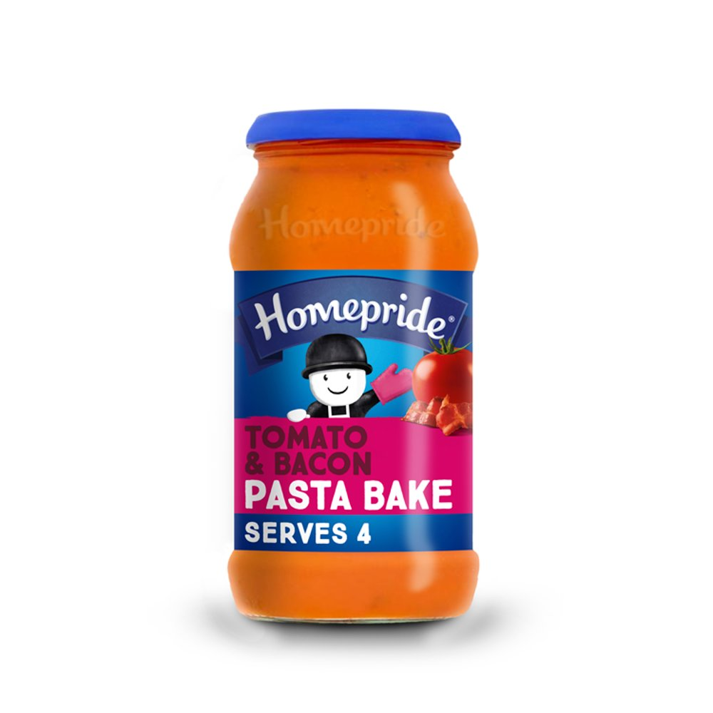 Homepride Pasta Bake Tomato & Bacon 485g