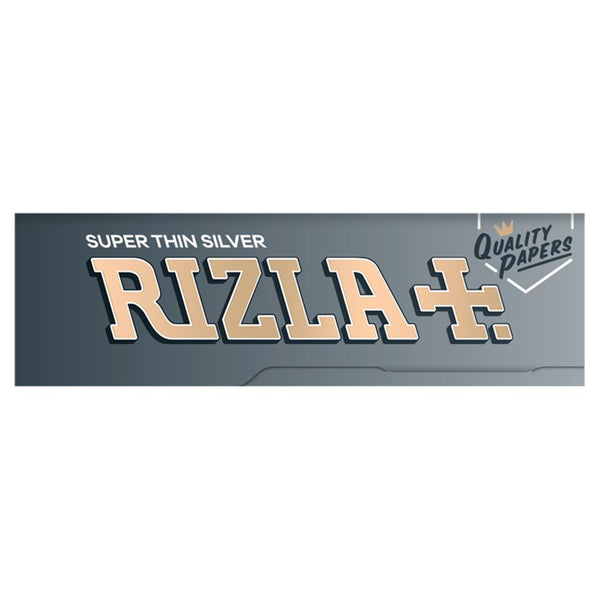 50 X Rizla Silver Slim (Standart) Small Cigarette Rolling Papers