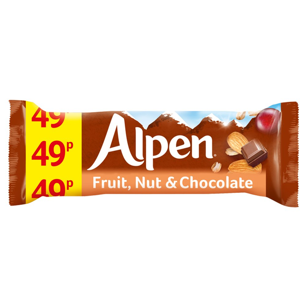 Alpen Cereal Bars Fruit & Nut & Chocolate 29g