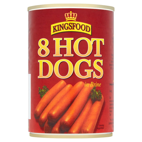 Kingsfood 8 Hot Dogs in Brine 400g