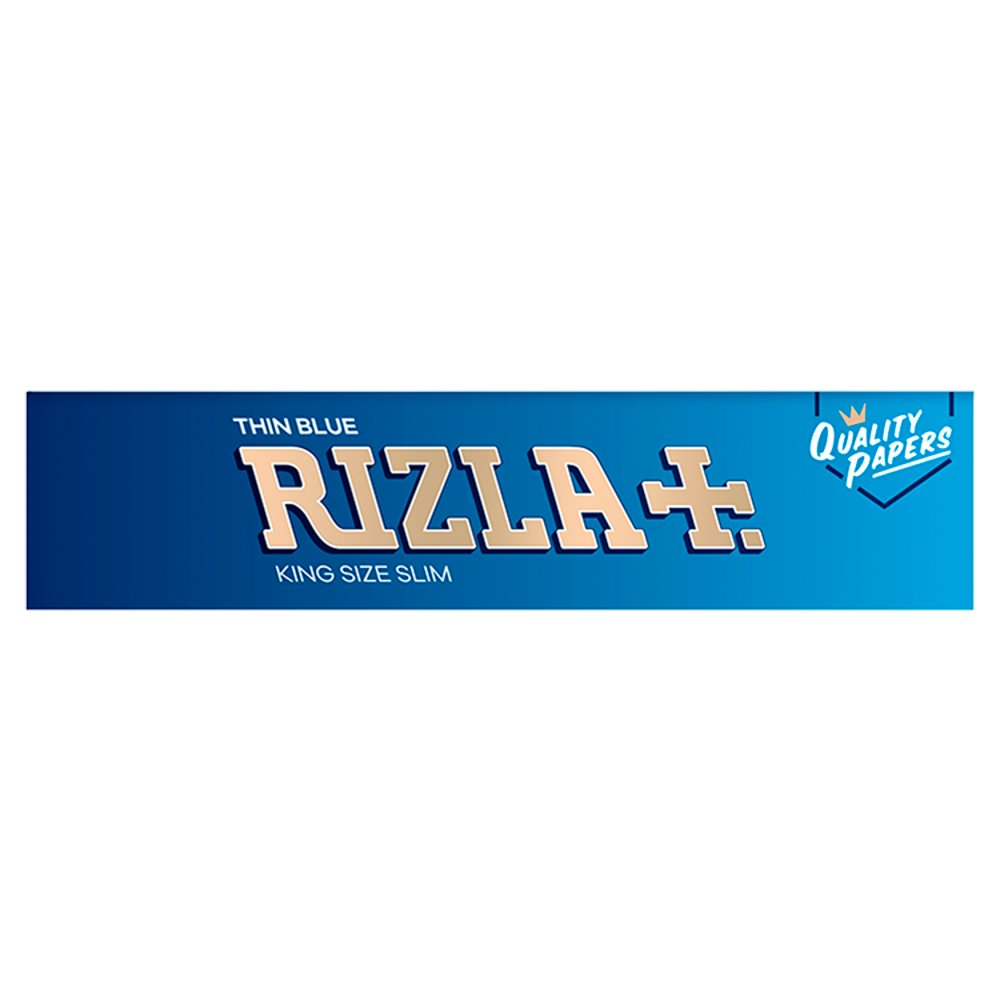 Rizla 5 Booklets Blue King Size Slim Rolling Papers, Genuine