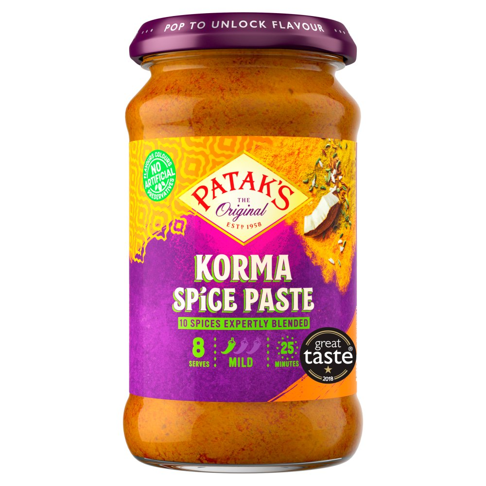 Patak's The Original Korma Spice Paste 290g