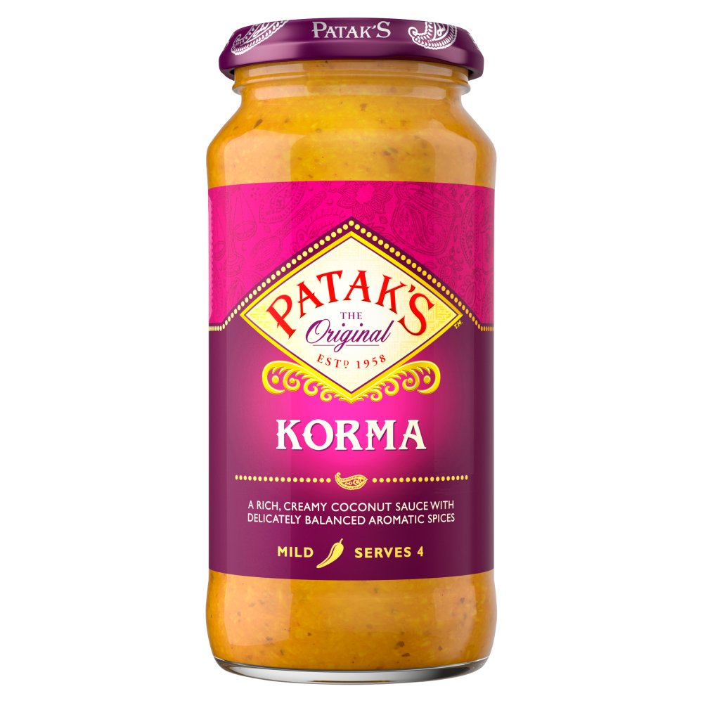Pataks - Korma Cooking Sauce - 450g (Case of 6)