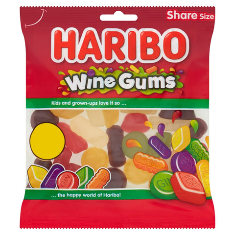 Original Haribo Wine Gums Gummy Sweets Gummy Candy Imported From The UK England The Very Best Of British Wine Gums