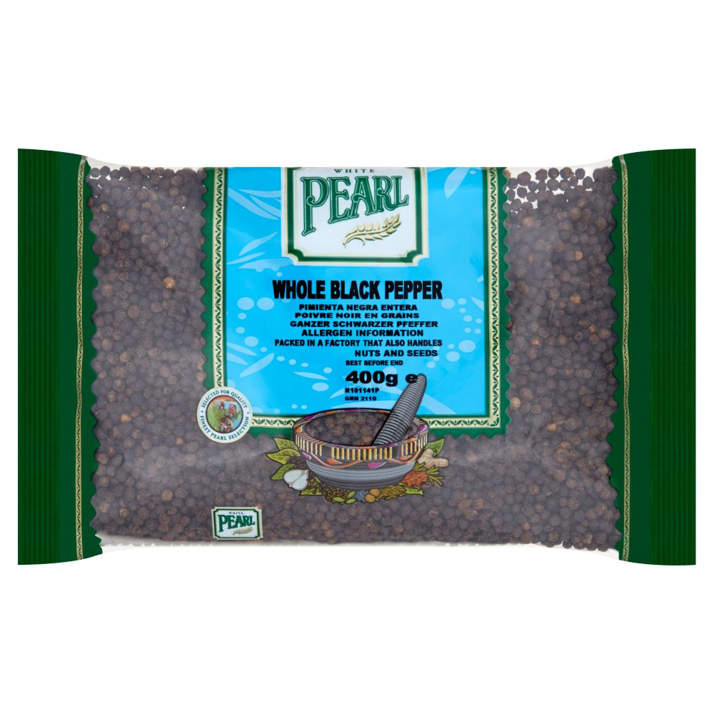 White Pearl Whole Black Pepper 400g