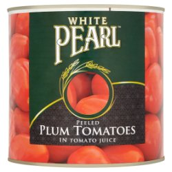 White Pearl Peeled Plum Tomatoes in Tomato Juice 2.5kg