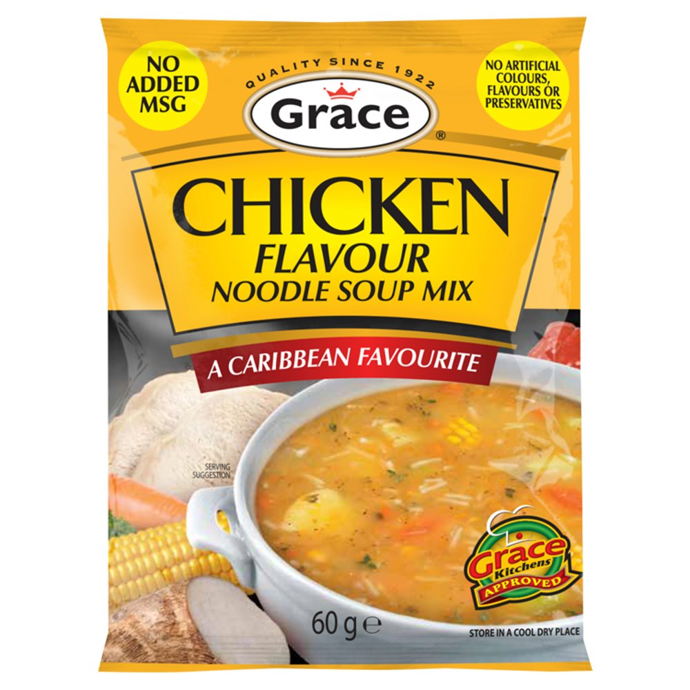 Grace Caribbean, Soup Mix Chckn Ndl, 2.1 OZ (Pack of 12)