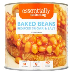 Essentially Catering Catering Baked Beans Reduced Sugar & Salt in Tomato Sauce 2.62kg