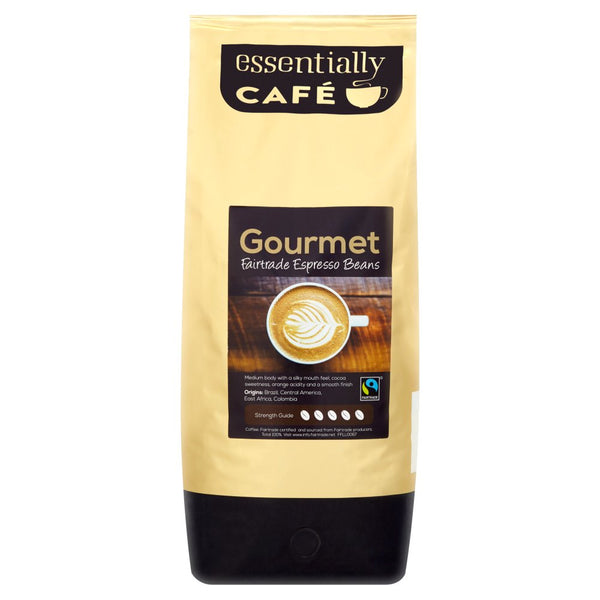 Essentially Catering Café Gourmet Fairtrade Espresso Beans 1kg