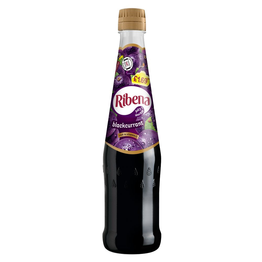 Ribena Original Blackcurrant Drink, 600 ml Bottles (Pack of 2)