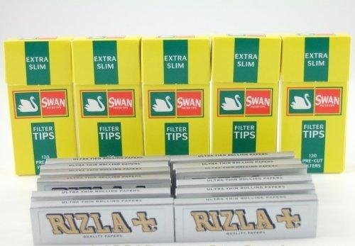 Rizla Silver Papers and Swan Extra Slim Filters 600 by Bargaing-Base