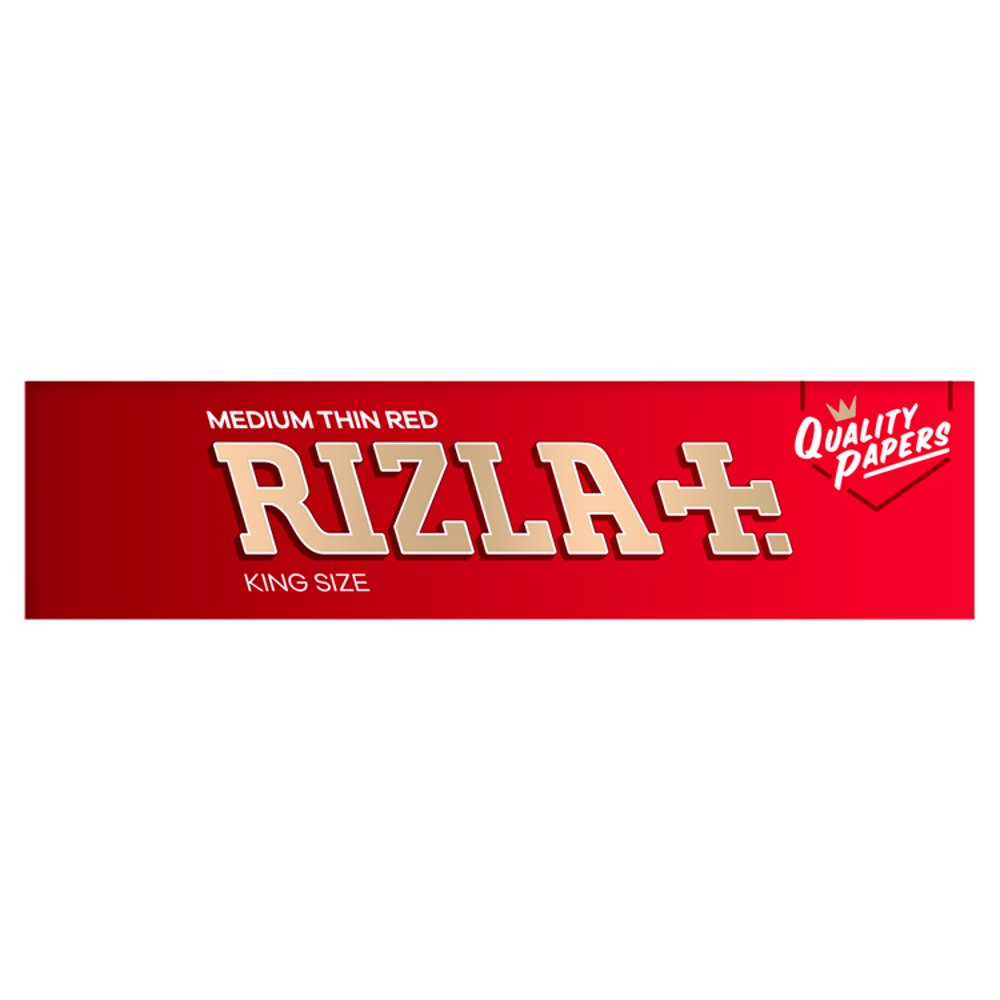 Rizla Red King Size Paper Box Of 50 Books