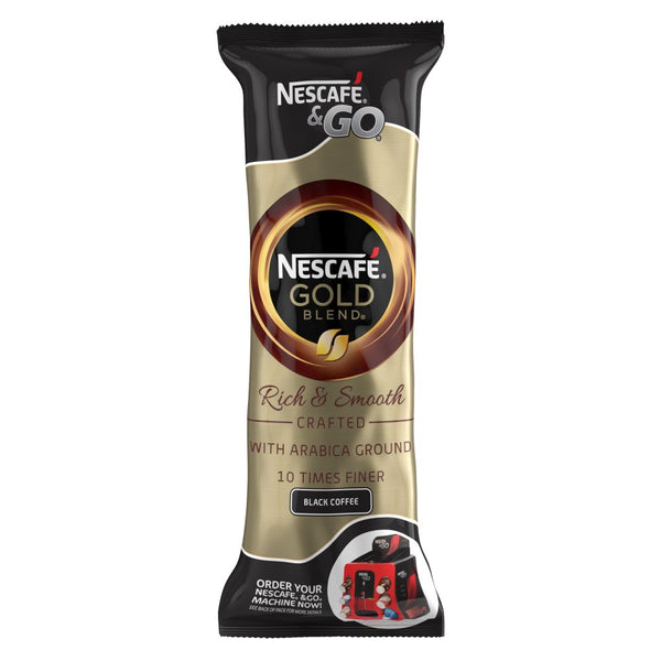 Nescafé &Go Gold Black Coffee Sleeve of 8 Cups x 2.4g