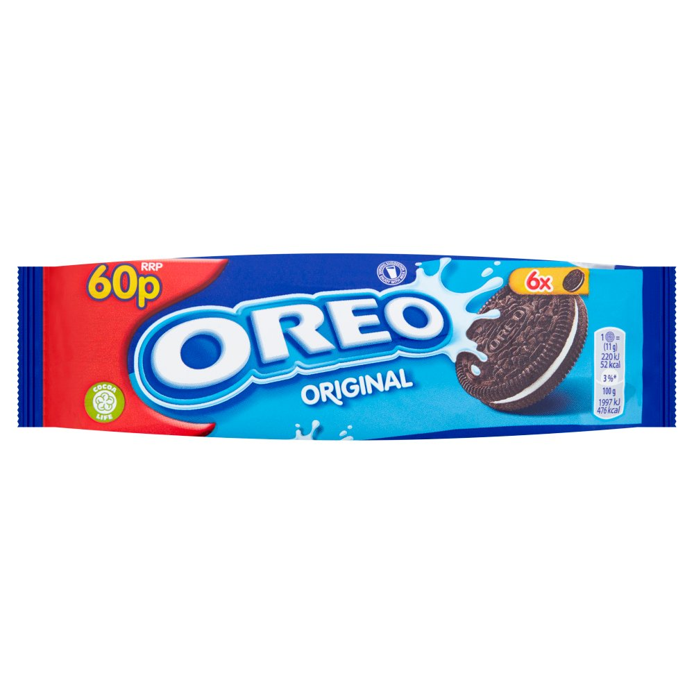 Oreo Original Vanilla Chocolate Sandwich Biscuit 66g