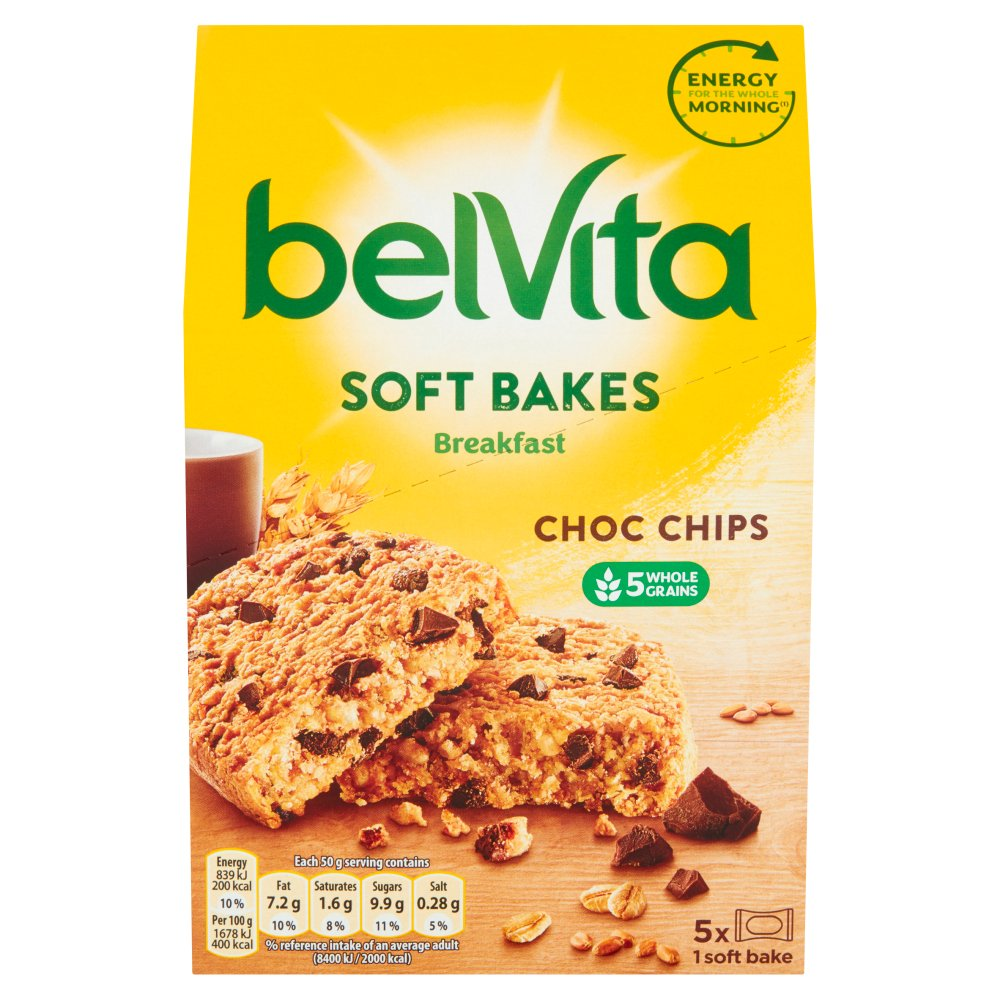 Belvita Breakfast Biscuits Soft Bakes Choc Chips 250g
