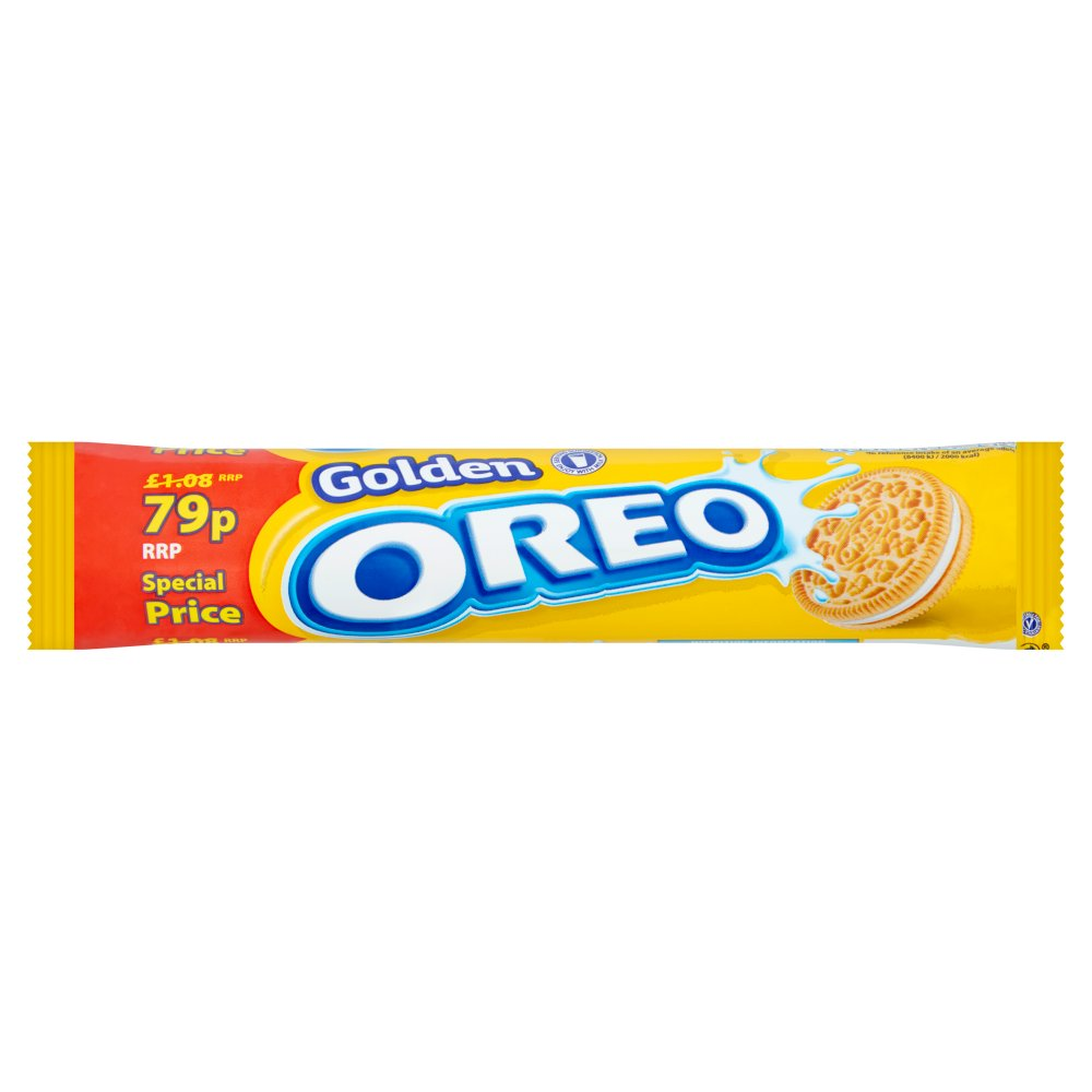 Oreo Golden Sandwich Biscuits 154g