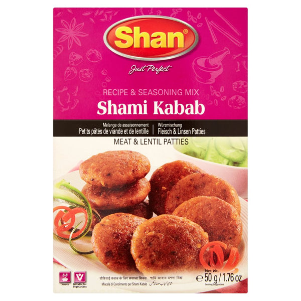 Shan Shami Kabab Recipe & Seasoning Mix 50g