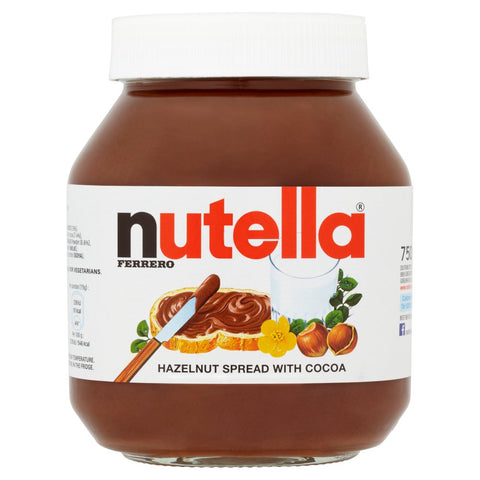 Nutella Hazelnut and Chocolate Spread Jar 750g