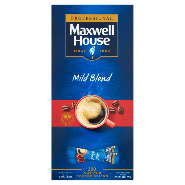 Maxwell House Professional Mild Blend Once Cup Coffee Sticks 200 x 1.5g (300g)