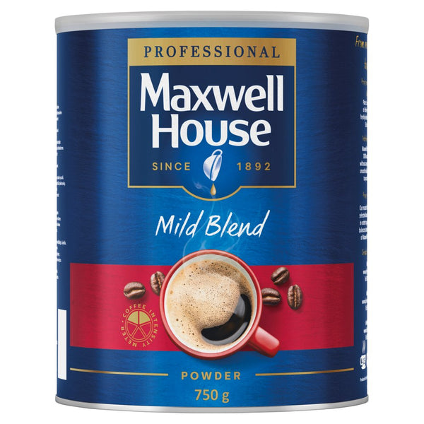 Maxwell House Mild Instant Coffee Tin 750g