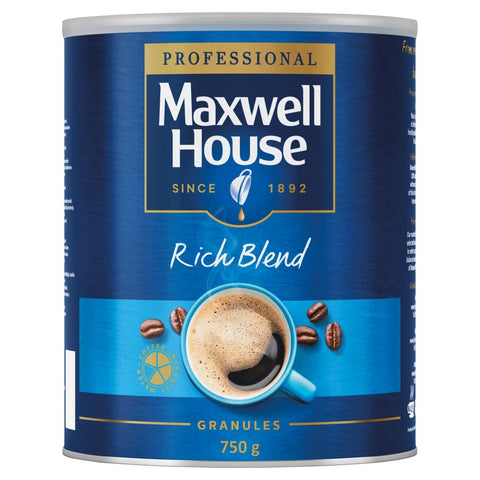 Maxwell House Rich Instant Coffee Tin 750g