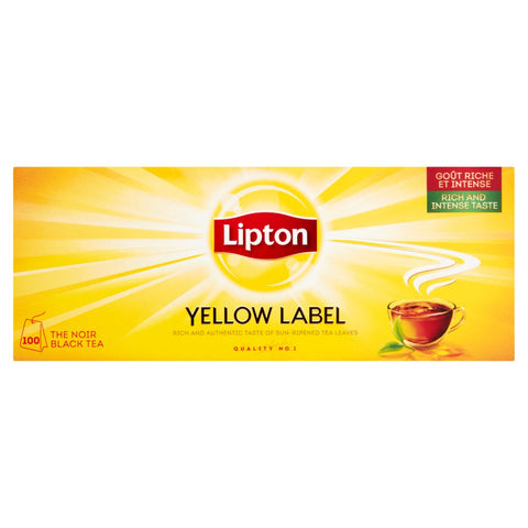Lipton Yellow Label 100 The Noir Black Tea Bags 200g