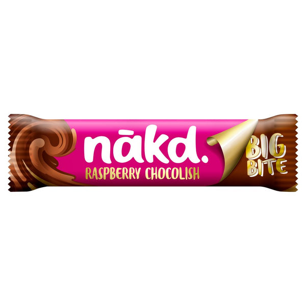 Nakd Big Bite Raspberry Chocolish Fruit, Nut & Cocoa Bar 50g