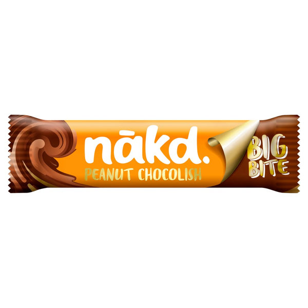 Nakd Big Bite Peanut Chocolish Fruit, Nut & Cocoa Bar 50g