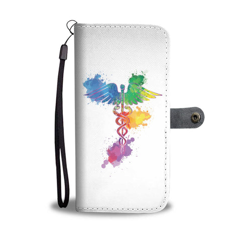 Caduceus Watercolour Splash Phone Case - White