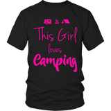Limited Edition - This Girl Loves Camping PINK DESIGN Unisex