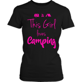 Limited Edition - This Girl Loves Camping PINK DESIGN Ladies Classic
