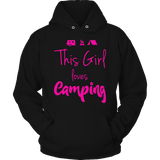 Limited Edition - This Girl Loves Camping PINK DESIGN Hoodie