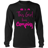 Limited Edition - This Girl Loves Camping PINK DESIGN Long Sleeve