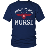 Limited Edition - Proud to be a Nurse-HEART WITH WINGS Unisex