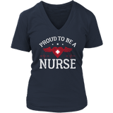 Limited Edition - Proud to be a Nurse-HEART WITH WINGS Ladies V