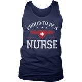 Limited Edition - Proud to be a Nurse-HEART WITH WINGS Tank Top