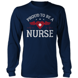 Limited Edition - Proud to be a Nurse-HEART WITH WINGS Long Sleeves