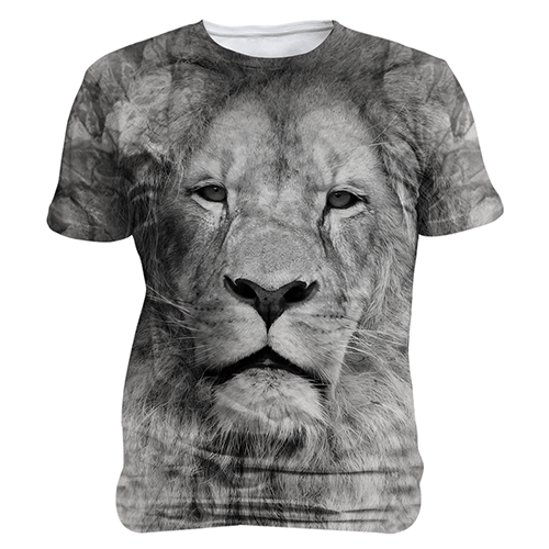 Lion- Black and White Sublimation Unisex Shirt