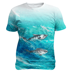 Fish Waves - Sublimation Unisex T-shirts