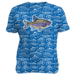 Fish Blue Pattern - Sublimation Unisex T-Shirts