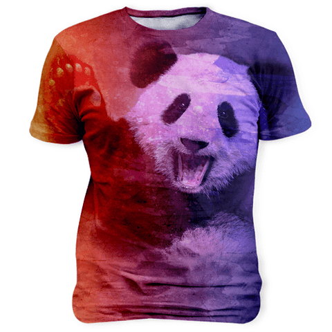Panda Watercolor Sublimation Unisex Shirt