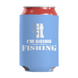 Limited Edition - I'm Going Fishing Can Wrap Light Blue