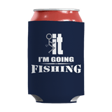 Limited Edition - I'm Going Fishing Can Wrap Royal Blue